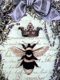 Queen Bee sign, Wood Plaque, Paris sign, Lavender wall decor, French Country decor