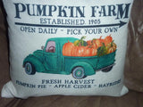 Fall Farmhouse pillow Cover - pumpkin pillow - pillow covers - fall sofa pillow