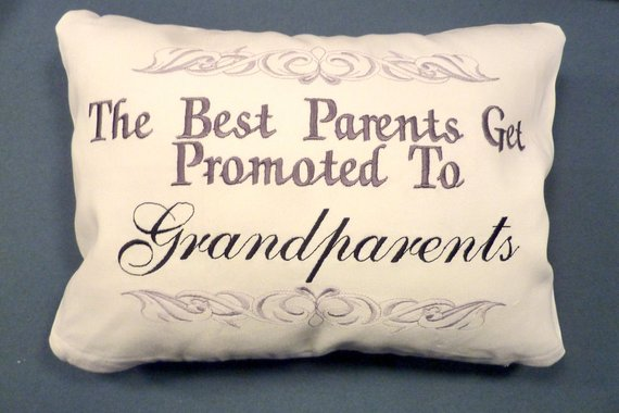 Grandparents Pillow cover - Parents pillow - Embroidered pillow cover - Julie Butler Creations