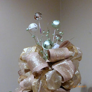 Bell Christmas Tree topper - Ribbon topper - Tree decorations - Bow Topper - Julie Butler Creations