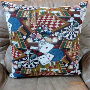 Game room Pillow cover - Extra Large floor pillows - pillow covers - Pool room Pillows - Julie Butler Creations