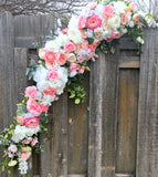 Wedding Arbor flowers - Flower swag - Rose arch - Wedding Flowers - Head table centerpiece - Julie Butler Creations