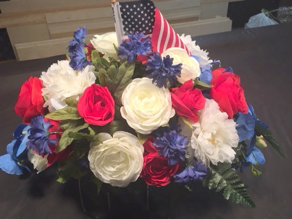 Memorial Day flowers - memorial flowers - Cemetery flowers - Military memorial flower