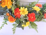 Front door Wreath - summer wreath -front door decor - Floral wreaths - Julie Butler Creations