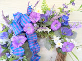 Purple summer Wreath - wreaths - door wreaths - Spring Wreaths - Front door decor - Julie Butler Creations