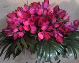 Headstone Spray, Cemetery flowers, Gravesite spray, memorial flowers - Julie Butler Creations