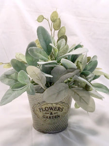 Farmhouse Decor, French Country Decor, Lambs Ear and Eucalyptus planter, Farmhouse planter - Julie Butler Creations