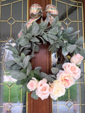 Lambs Ear wreath, Farmhouse door wreath - Front door wreath, year round wreath - Julie Butler Creations