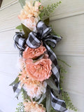 Farmhouse Door Swag, Summer door swag, Spring wreath, Door swag, Front door decor - Julie Butler Creations