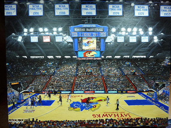 KU Basketball pictures University of Kansas Limited Edition KU Basketball Print - Sports pictures - Julie Butler Creations