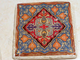 Moroccan Tile coaster set - Travertine coasters - Moroccan tile - tile coasters - Stone Coasters - Julie Butler Creations