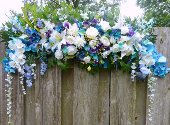 Tropical Wedding Arch Flowers, Wedding Flowers, Wedding Decorations, Wedding arch swag