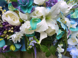 Tropical Wedding Arch Flowers, Wedding Flowers, Wedding Decorations, Wedding arch swag - Julie Butler Creations