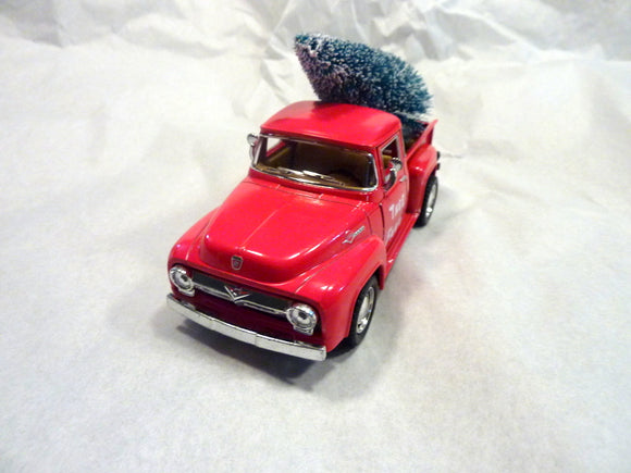 Red Farmhouse Truck, Diecast truck decor, Christmas Truck decorations, Red Truck decor