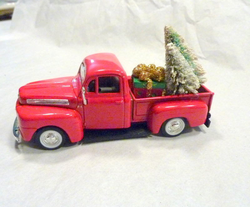 Red Christmas Truck.Red Farmhouse Truck Diecast Truck Decor Christmas Truck Decorations Metal Truck Red Truck Decor