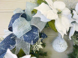 Poinsettia Wreath, Christmas Wreath, Christmas Decorations, Holiday decorations - Julie Butler Creations
