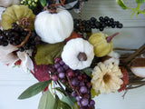 Fall Farmhouse wreath, Front door wreath, Autumn Wreath, Front door Wreaths, Fall wreaths - Julie Butler Creations