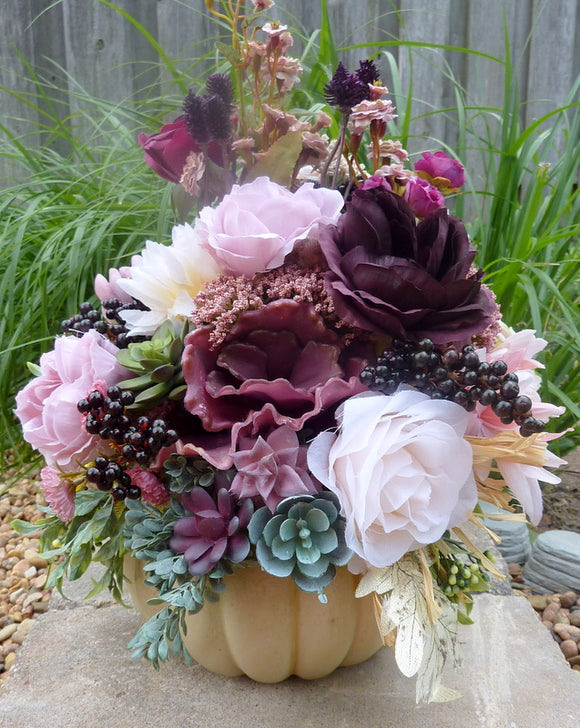 Thanksgiving centerpiece, Fall centerpiece, Fall wedding centerpiece - Julie Butler Creations