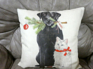 Christmas Pillow covers- Christmas decorations - dog pillow covers - cat pillow covers