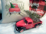 Red Truck Christmas decor, 10 inch Diecast truck decor, Christmas Truck decorations - Julie Butler Creations
