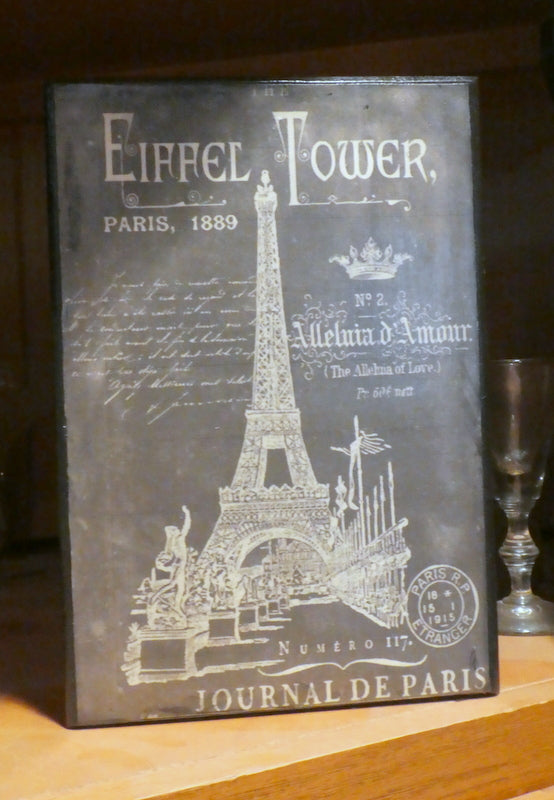 Paris plaques -Eiffel Tower chalkboard print - Vintage Paris advertising - Julie Butler Creations