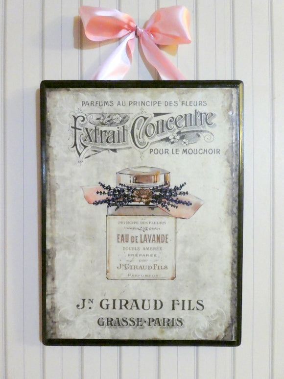 Paris Wood Plaques - Vintage Paris advertising - wood wall art - French Country - Julie Butler Creations