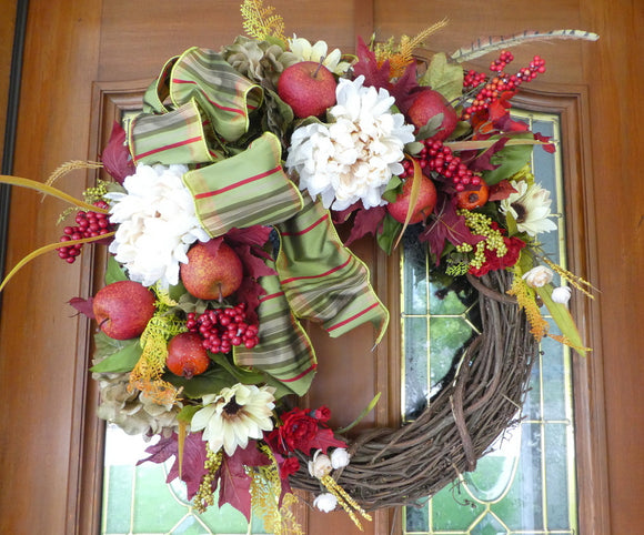 Fall wreath - Front door wreath - Autumn Wreath - decorative wreaths - Fall wreath