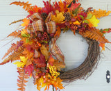 Wreaths for Fall - Autumn Wreath - Fall wreath - Fall decorations - Thanksgiving wreath - Julie Butler Creations