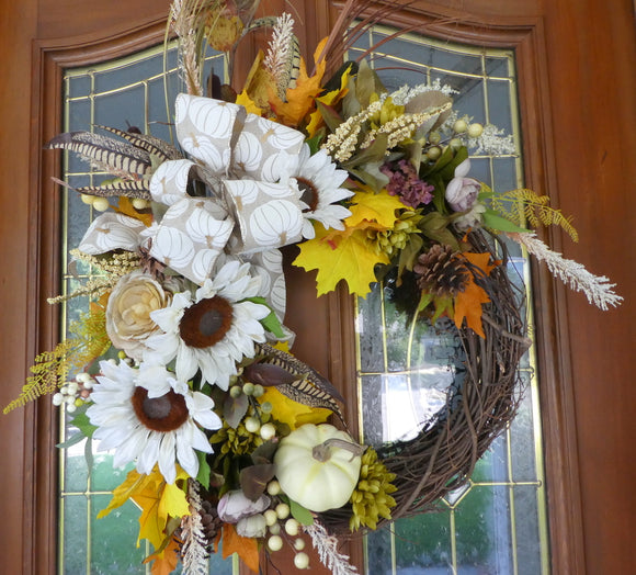 Autumn Wreath - Fall wreaths - door Wreaths - Thanksgiving wreath
