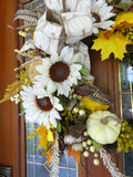 Autumn Wreath - Fall wreaths - door Wreaths - Thanksgiving wreath - Julie Butler Creations