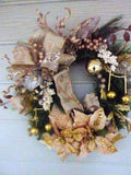 Gold Christmas Wreaths - Christmas Decorations - Rose Gold Wreaths - Julie Butler Creations