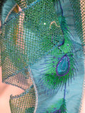 Peacock Tree topper - Peacock Ribbon topper - Tree decorations - Julie Butler Creations