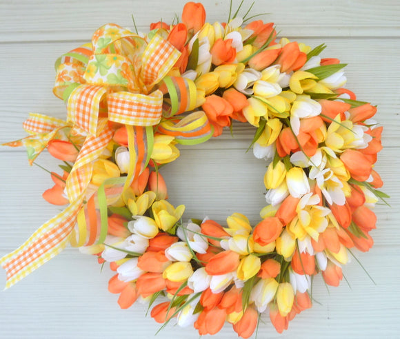 Spring Tulip Wreaths - Wreaths - Summer Wreaths - Easter wreaths - Front door wreath - Julie Butler Creations