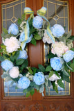 Spring peony wreath, Wreaths for the Front door, Spring Wreaths, peony wreath - Julie Butler Creations