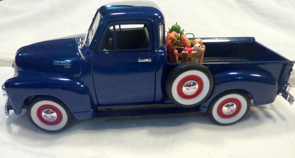 Blue Farmhouse Truck, Diecast truck decor, Farmhouse decor, Metal truck, Chevy Truck - Julie Butler Creations