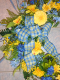 Wreaths for the front door - Large Spring wreath - Summer Wreath - Julie Butler Creations