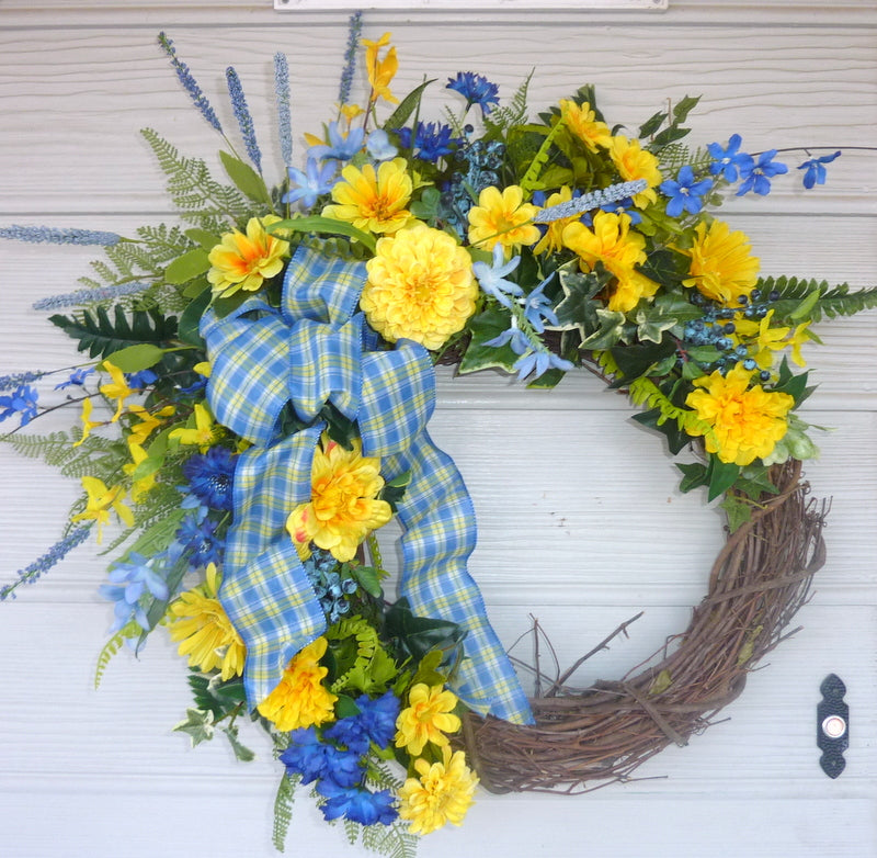 Wreaths For The Front Door Large Spring Wreath Summer Wreath