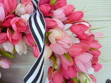Pink Tulip Wreaths - Tulip Wreaths - Summer Wreaths - Easter wreaths - Front door wreath - Julie Butler Creations