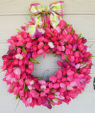 Spring Wreaths, Tulip Wreath, Summer wreaths, Front door wreath, Easter wreath - Julie Butler Creations