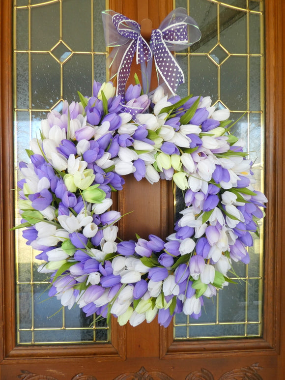 Spring Tulip Wreath - Wreaths - Spring Wreath - Easter wreath
