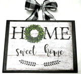 French Country decor - Farmhouse decor - Home Sweet Home wood plaque - Julie Butler Creations