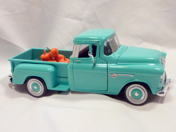 Farmhouse Truck, Diecast truck decor, Farmhouse decor, Turquoise Chevy truck, Metal truck