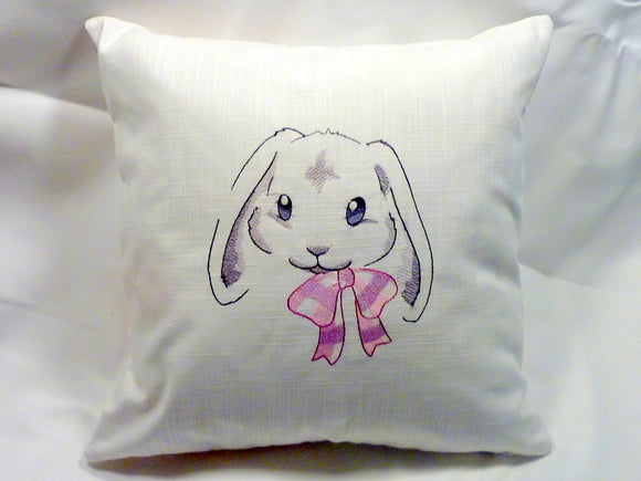 Easter Bunny pillow cover - Embroidered pillow cover - Farmhouse pillows - Easter pillow