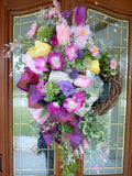 Wreaths for Spring - Front door wreath - Summer wreath - Easter Wreaths - Front door decor - French Country decor