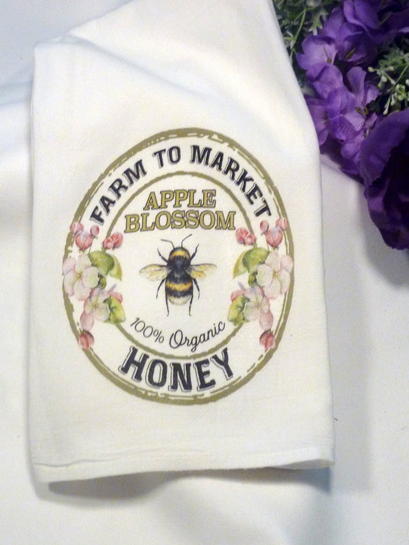 Bee Farmhouse towels - Honey Bee Towel - dish towel - Flour Sack Towels