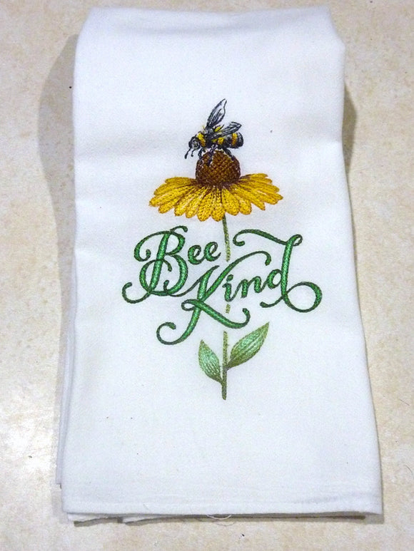 Embroidered kitchen towels - Flour sack towels - Tea Towel - Kitchen towel - Hostess Gift - towels with Bees