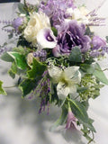 Monument Flowers - headstone Saddle - Cemetery flowers - Grave site spray - Mothers Day memorial flowers - Memorial spray