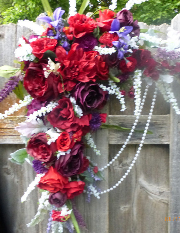 Wedding Arbor Flowers for Fall - Winter wedding flowers - Wedding decorations - Julie Butler Creations