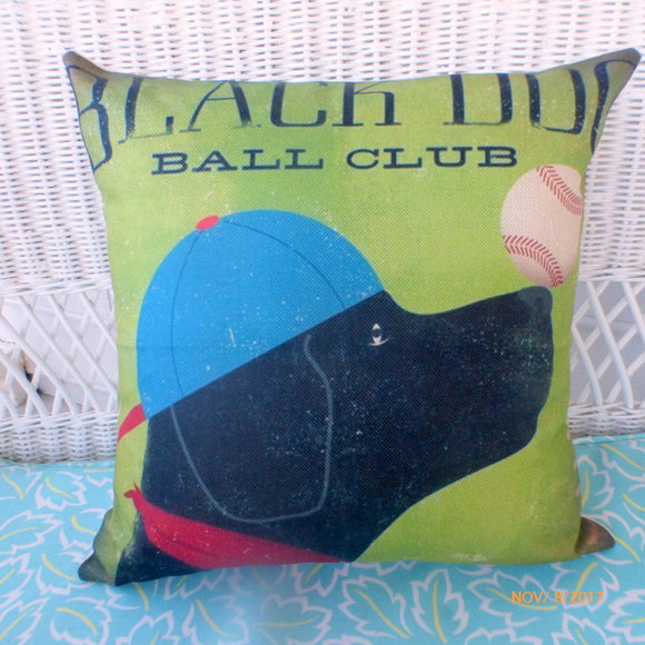 Dog pillows - pillow covers with dogs - Black Lab pillows - dog lover gift - Julie Butler Creations