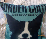 Border Collie Pillow covers - Dog Breed cover - Family room pillow covers - boys room decor - Julie Butler Creations